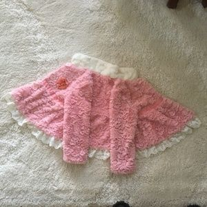Rosey Pink and White Sweater